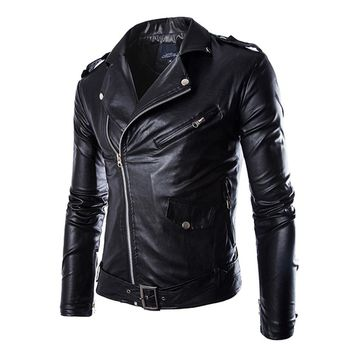 Herobiker Motorcycle Jackets Men Vintage Retro PU Leather Jacket Racing Biker Punk Classical Motocross Windproof Moto Jacket