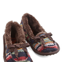 ModCloth Where the Slumber Party At Slippers in Hot Cocoa