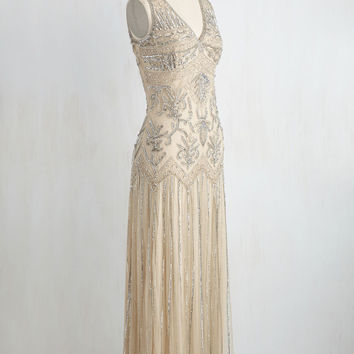 All Aisles on You Dress in Champagne | Mod Retro Vintage Dresses | ModCloth.com