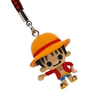 Strapya World : One Piece x PansonWorks Netsuke Cell Phone Charm Vol. 8 (New World/Luffy)