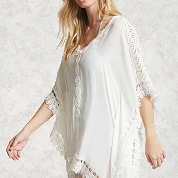Crochet-Trim Cover-Up Kaftan