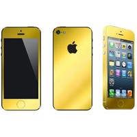 Iphone 5 Gold Full Body Scratch Protection & Color Change Vinyl Set