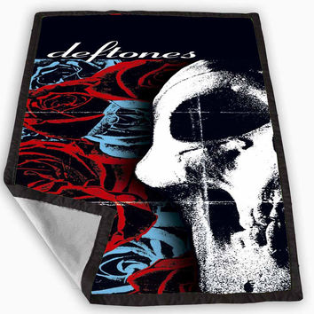 Deftones chi cheng Blanket for Kids Blanket, Fleece Blanket Cute and Awesome Blanket for your bedding, Blanket fleece **