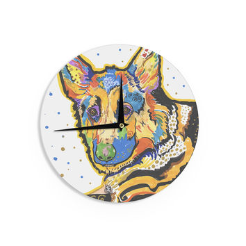 "Rebecca Fischer ""Floyd"" German Shepard Wall Clock"