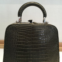 One of a Kind Regular Paradis PM in Olive Green Crocodile