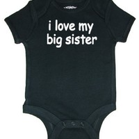 So Relative! I Love My Big Sister Baby Infant Short Sleeve Bodysuit Creeper