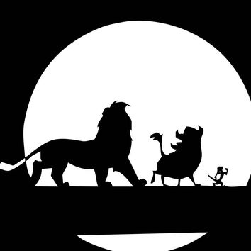Lion King Simba Timon Pumbaa Walking Vinyl Window Decal Sticker