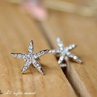 Sea Star Starfish Earrings Studs