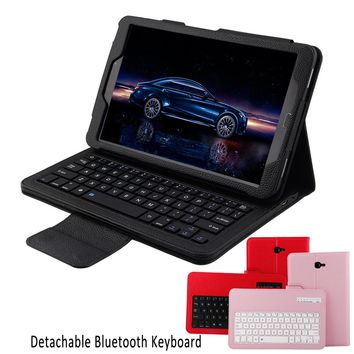 Wireless Bluetooth Keyboard Leather Protective Case Cover for Samsung Galaxy Tab A 10.1 T580 T581