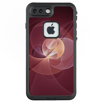 Movement Abstract Modern Wine Red Pink Fractal Art LifeProof® FRĒ® iPhone 7 Plus Case