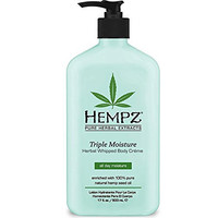 Hempz Triple Moisture Herbal Whipped Body Crème, 17  Fluid Ounce