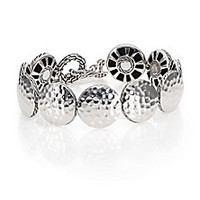 John Hardy - Palu Sterling Silver Medium Disc Bracelet - Saks Fifth Avenue Mobile
