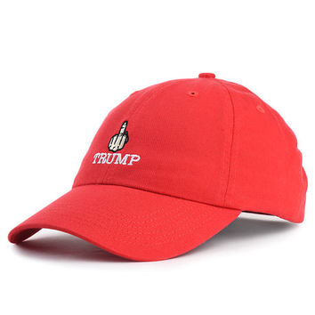 The F Trump Dad Hat in Red