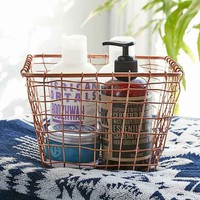 Cabo Copper Wire Storage Basket- Bronze