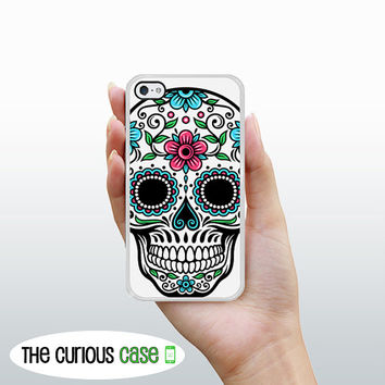 iPhone 4S Case iPhone 4 Case Sugar Skull / Hard Case For iPhone 4 and iPhone 4S Rubber Trim