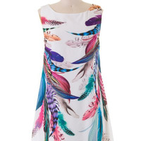 Feathers Shift Dress
