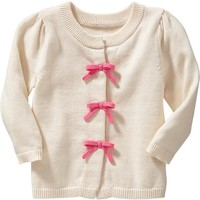 Bow-Tie Cardigans for Baby
