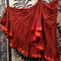 Rust Sari Trim 25 Yard Skirt - TS106