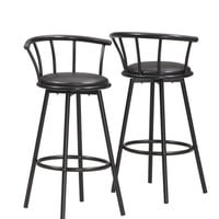 "Black 43""H Swivel Bar Stool (Set Of 2)"