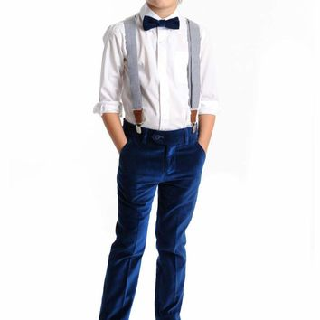 Appaman Boys' Seaport Velvet Suit Pant