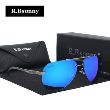 Luxury Aluminum Magnesium Polarized Sunglasses Men mirror Sun Glasses
