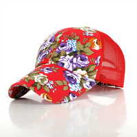Vintage Floral Rose Baseball Hat for Women