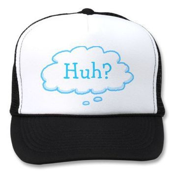 Funny HUH? Trucker Hats from Zazzle.com