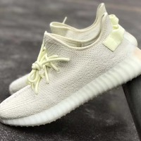 BC KUYOU Adidas Yeezy Boost Kanye West 350 V2 Ice F36980 (NOW Butter) 2018 PRE ORDER
