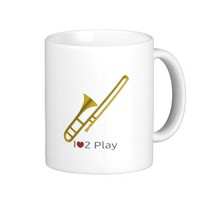 Trombone cartoon mug