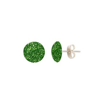 Glittery Green Sparkles St.Patrick's Day Fun Earrings