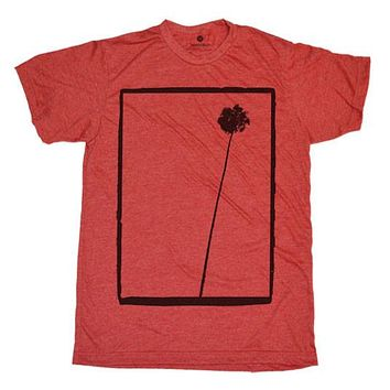 Single Palm Heather Red T-Shirt