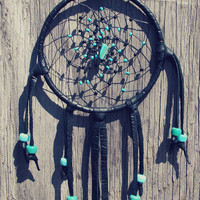 Small Black and Blue Dream Catcher