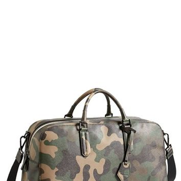 Men's Ben Minkoff 'Jermyn' Camo Leather Duffel Bag - Green