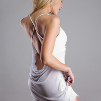 White Backless Nightgown Lingeire Dress Medium by NaughtyNaughty