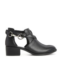 ASOS APOLLO Leather Cut Out Ankle Boots