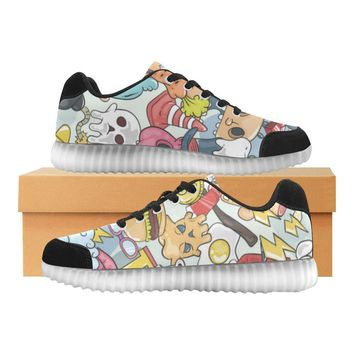 Funny Characters Design 1 Light Up Casual Men's Shoes