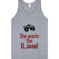 She wants the Diesel-Unisex Athletic Grey Tank