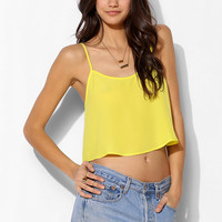Sparkle & Fade Neon Silky Cropped Cami - Urban Outfitters