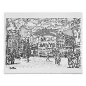 Piccadilly Circus London UK Poster