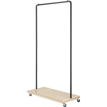 "Whitmor 6301-5236-BB 17.13"" X 36.25"" X 69.25"" Oil Bronze Slat Wood Garment Rack - Walmart.com"