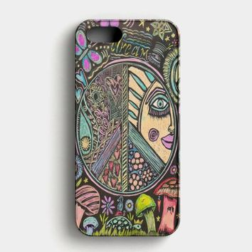 Hippie Scratch Board Mandala iPhone SE Case