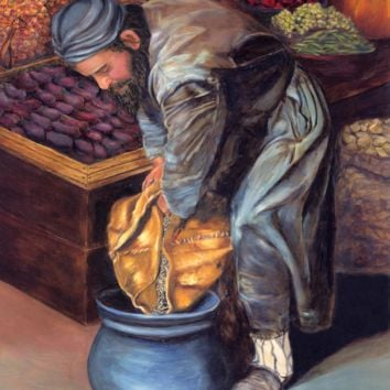 Fruit Vendor - Wood Print 46