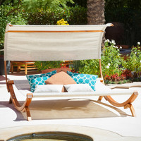 Home Loft Concept Emma Sunbed with Canopy