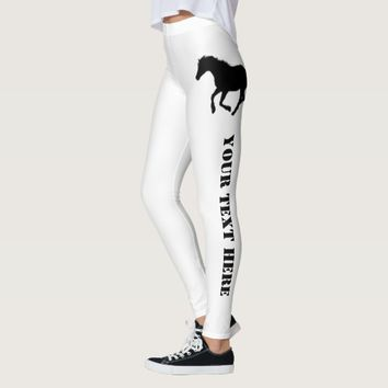 Horse or pony custom text leggings