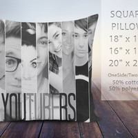 Youtubers Photos, pillow case, pillow cover, cute and awesome pillow covers