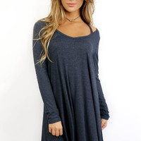 Ocean Breeze Dark Blue Two Tone Dress