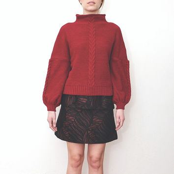 LIVLOV Knitted Red Sweater - Made in Spain