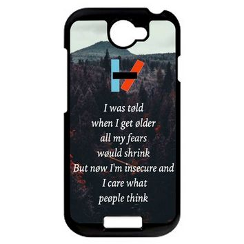Twenty One Pilots Lyrics HTC One S Case