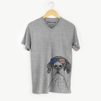 Booze the German Shorthaired Pointer  - USA Patriotic Collection
