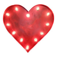 Heart Symbol Marquee Sign Light